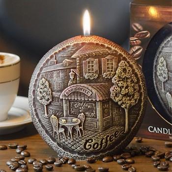Svíčka COFFEE disk 130 parfém