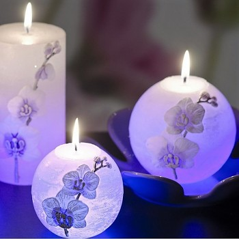 Svíčka RUSTIC ORCHID LED koule 100