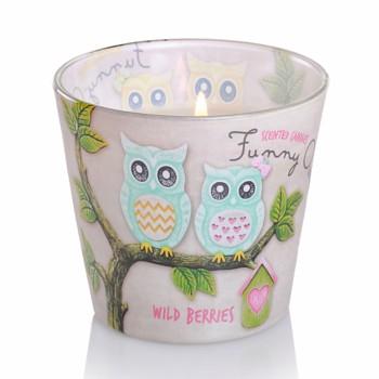 *Svíčka sklo FUNNY OWLS parfém