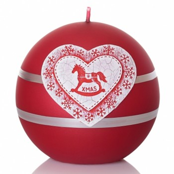 *Svíčka MERRY CHRISTMAS koule 80
