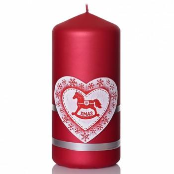 *Svíčka MERRY CHRISTMAS válec 60x130