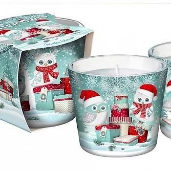 *Svíčka sklo WINTER OWLS parfém