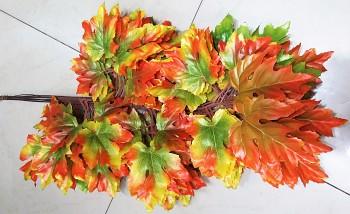 Listy podzim 45cm - 12ks MIX