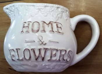 Mlékovka HOME FLOWERS s krajkou 9x7cm