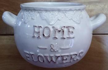 Cukřenka HOME FLOWERS s krajkou 13x10cm