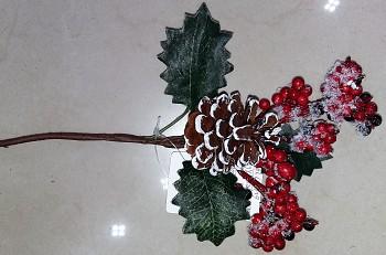 Zápich vánoce šiška+ptačí zob 25cm