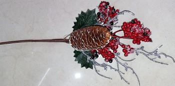 Zápich vánoce šiška+ptačí zob 5cm