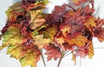 Listy podzim x14 - 40 cm