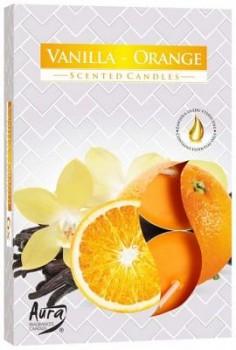 Svíčka čajová  6ks parfém - 037 Vanilka-Pomeranč