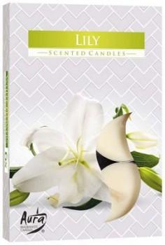 Svíčka čajová  6ks parfém - 058 Lilie