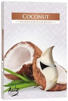 Svíčka čajová  6ks parfém - 060 Kokos