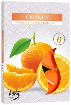 Svíčka čajová  6ks parfém - 063 Pomeranč