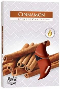 Svíčka čajová  6ks parfém - 065 Skořice
