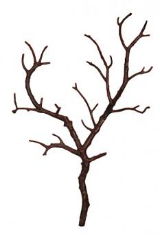 Větvička dřevěná 25cm