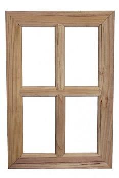 Okno dřevěné 40x60cm NATURAL