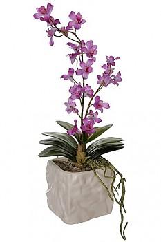 Orchidea v květináči 12x12x42cm LAVENDER