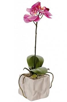Orchidea v květináči 8x8x31cm LAVENDER