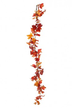 Girlanda list  180cm ORANGE