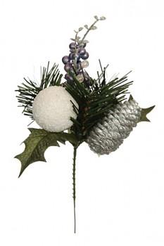 Zápich vánoční 25cm WHITE/LILA