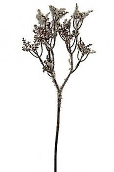 Větvička zasněžená  28cm WHITE