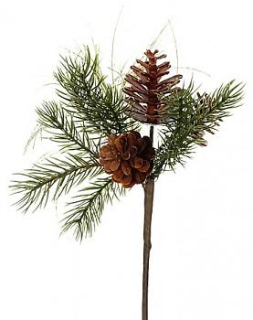 Zápich borovice se šiškou 25cm GREEN