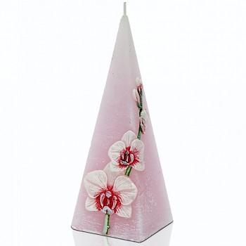 Svíčka RUSTIC ORCHID pyramida 150