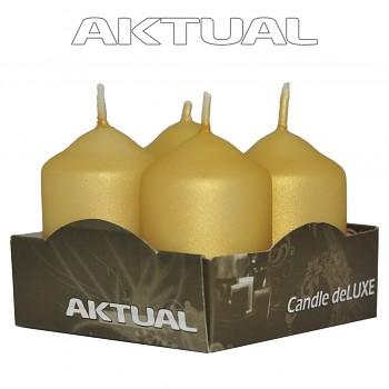 Svíčka válec 4/40/60 METALICKÁ deLUXE Golden Shadow